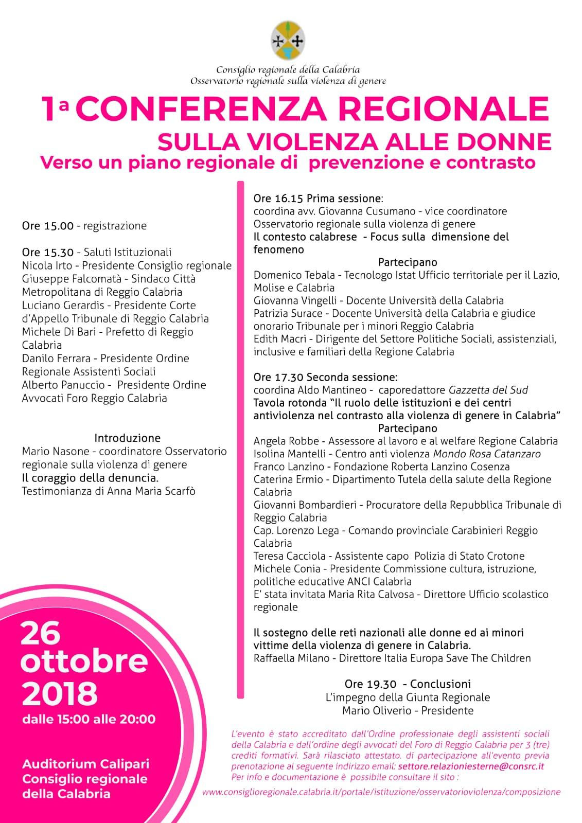 conferenza regionale sulla violenza alle donne