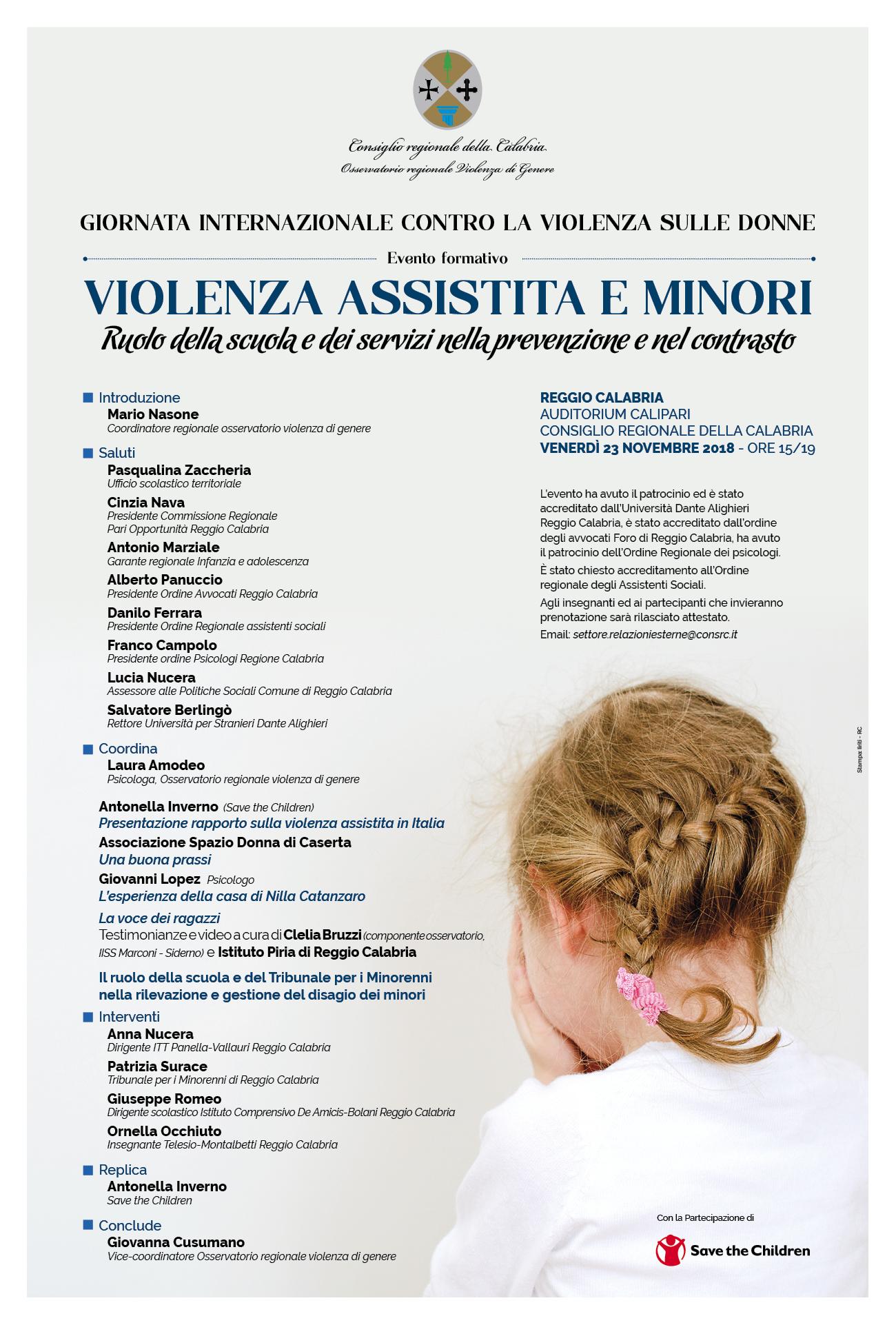 Violenza assistita e minori